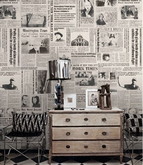 old fashioned wall ls journal papier peint new york times nostalgique wall art noir