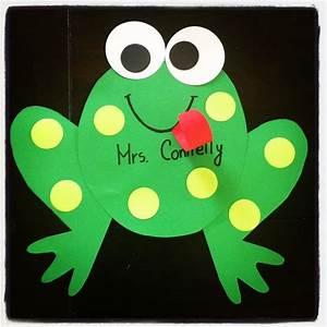 Kindergarten Frog craft ...hop into spring! | Spring into ...
