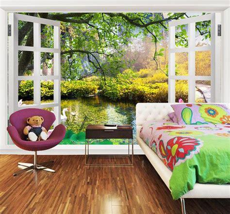 papier peint trompe l oeil chambre papier peint personnalisé tapisserie murale sur mesure