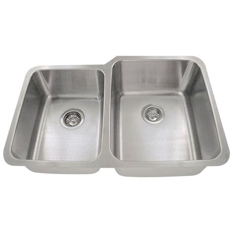 stainless steel kitchen sink polaris sinks undermount stainless steel 32 in 8813