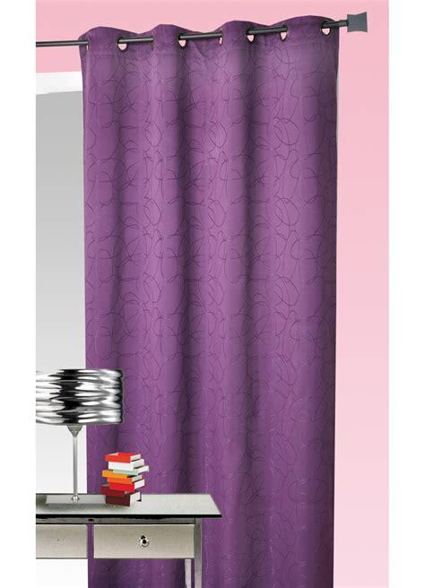 rideau ameublement jacquard motif g 233 om 233 trique prune