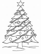 Coloring Tree Christmas Printable Pages Trees Printables Wallpapers9 sketch template