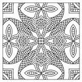 Kaleidoscope Coloring Pages Printable Adults Square Adult Getcolorings Getdrawings sketch template