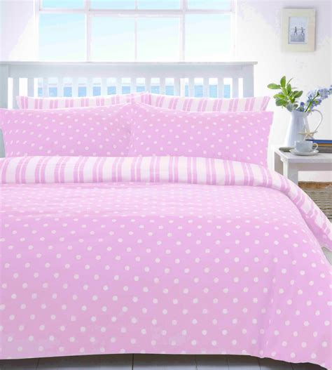 pink and white striped bedding bedroom with