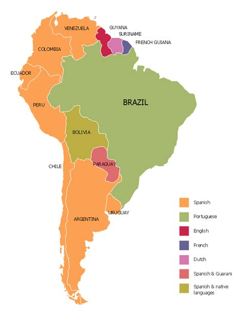 Languages Of South America Thematic Map