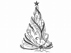 Tannenbaum Schwarz Weiß : wandtattoo festlicher weihnachtsbaum tannenbaum wandtattoo von ~ Orissabook.com Haus und Dekorationen