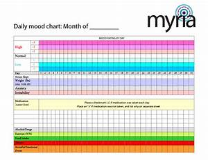 Daily mood chart to print - Myria