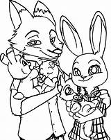 Zootopia Coloring Fox Pages Bunny Cartoon Printable Sheet Wecoloringpage Clipartmag Getcolorings Awesome Getdrawings sketch template