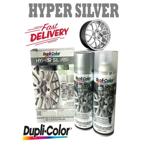 duplicolor hyper silver coating kit 2 aerosol can finish hsk100 wheel rims auto ebay