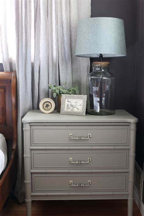 painted nightstand    inspired room