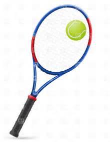 Tennis Racket and Ball Clip Art