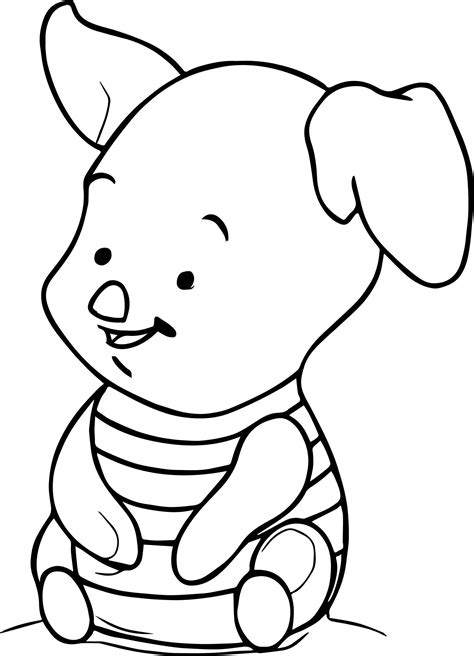 nice How To Draw Baby Piglet Coloring Page Piglet