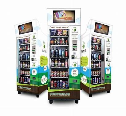 Vending Healthy Machines Human Card Credit Screens