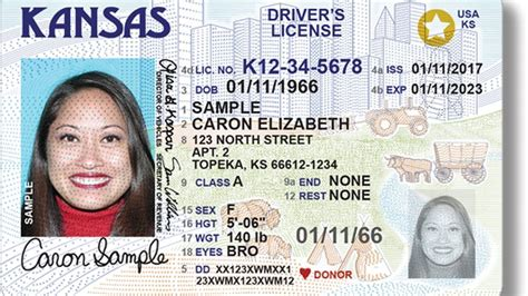 New Driver's License Design In Kansas To Comply With Federal Id Requirements