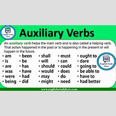 Auxiliary Verbs  English Study Here