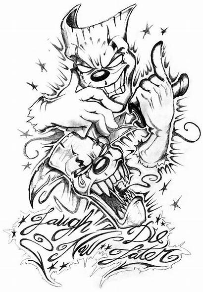 Cry Later Laugh Tattoo Sketches Drawings Mask