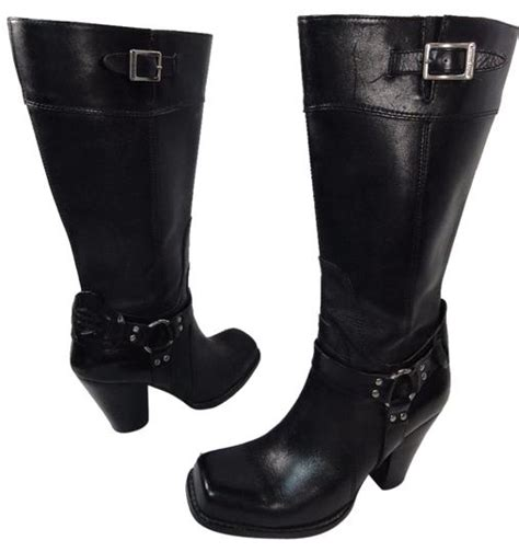 Harley Davidson Black Womens Tall Leather Fashion Sexy