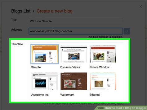 How To Start A Blog On Blogger (with Pictures