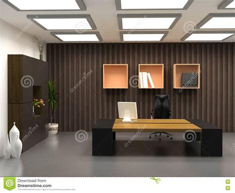 bureau moderne het moderne bureau stock afbeelding afbeelding bestaande