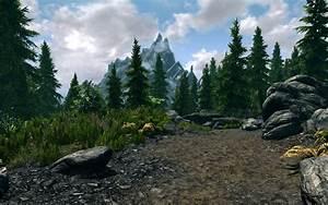 Mountain, Forest, At, Skyrim, Nexus