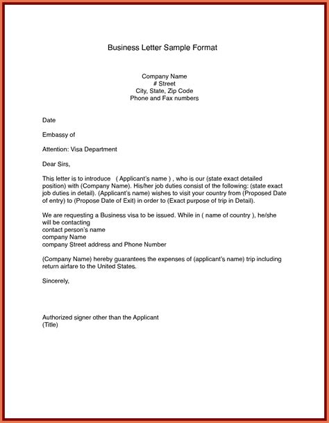 sample business letter format letters  sample letters