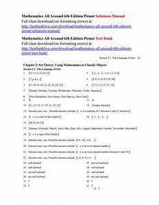 Mathematics All Around 6th Edition Pirnot Solutions Manual