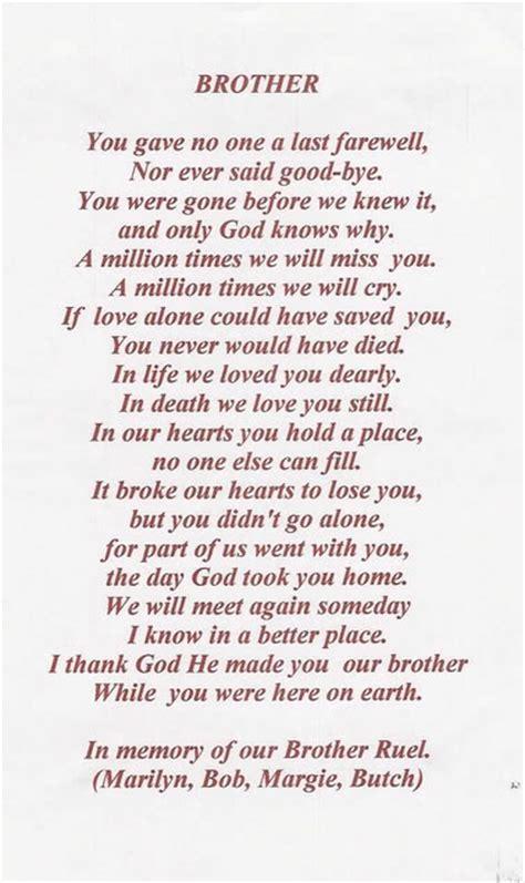 brother poem memories  loved  pinterest poem
