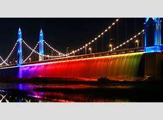 China's Binhe Yellow River Bridge unveils a rainbow