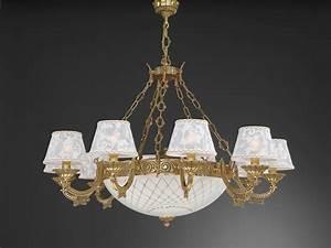 Kronleuchter Mit Lampenschirm : kronleuchter aus goldenen messing mit lampenschirm 14 flammig reccagni store ~ Markanthonyermac.com Haus und Dekorationen