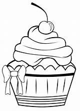 Coloring Salvo Desenho Cupcake sketch template