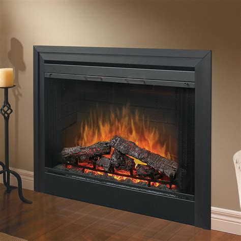 electric fireplace heater insert logs dimplex 39 quot deluxe built in electric fireplace bf39dxp
