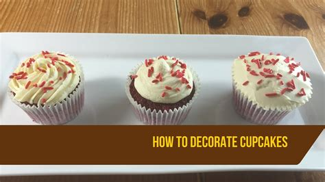 how to decorate cupcakes how to decorate red velvet cupcakes youtube