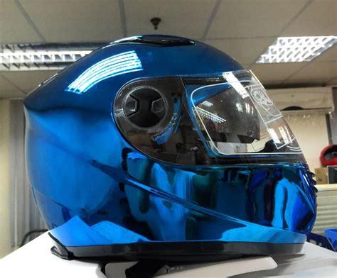 yamaha motocross helmet masei 830 blue chrome motorcycle bike harley arai ogk