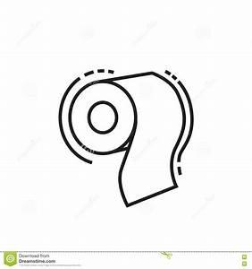 Toilet Paper Icon Stock Illustration | CartoonDealer.com ...