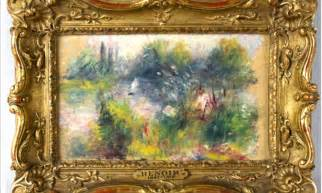 No Frames Picture 3 Piece Modern Cheap Home Decor Wall: Lost Renoir Painting Worth $100,000 Bought For $7 At Flea