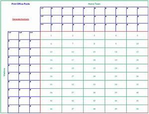Printable 50 square football pool sheet super bowl block for Printable super bowl block pool template