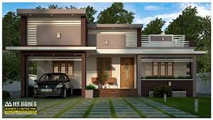 Modern, Low, Cost, 1370, Sq, Ft, 3, Bhk, Budget, House, In, Kerala