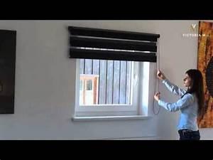 Victoria M Doppelrollo : victoria m doppelrollo duo rollo mit kettenzug f r fenster und t ren youtube ~ Frokenaadalensverden.com Haus und Dekorationen