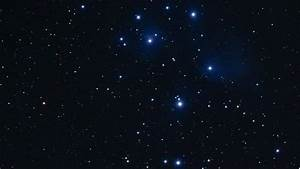 Rotating Pan Of The Pleiades Star Cluster Stock Footage ...