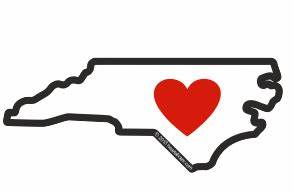 Heart in North Carolina Sticker