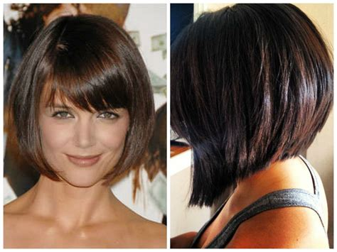 Stacked Bob With Bangs