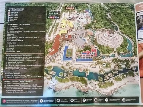 resort map picture  hotel xcaret mexico playa del