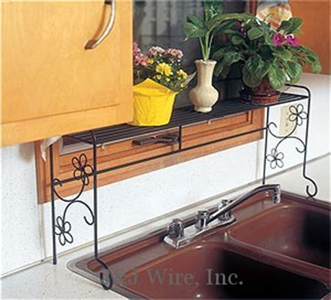 kitchen sink shelf j j wire 187 kitchen sink shelf with daisies 2877