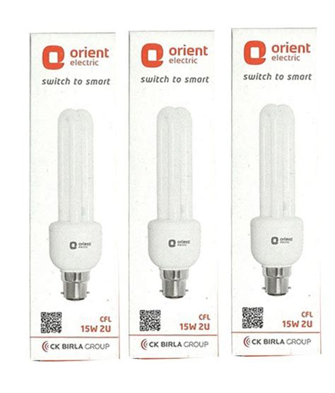 orient white  watt cfl bulbs pack   buy orient