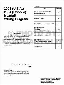 2003 Mazda6 Original Wiring Diagram  And 2004 Canada Mazda 6