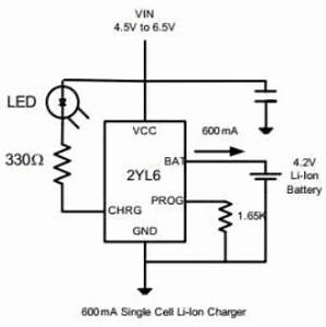 2yl6 datasheet 2yl6 pdf pinouts circuit etc With single cell lithium battery charger circuit