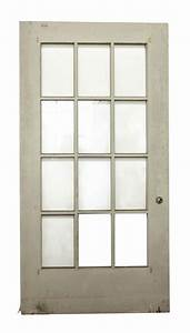 12 Glass Panel Wide White Door | Olde Good Things