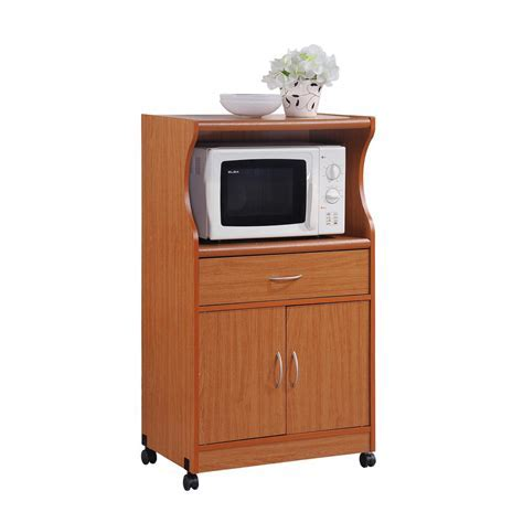 HODEDAH 1 Drawer Cherry (Red) Microwave Cart   Shop Your