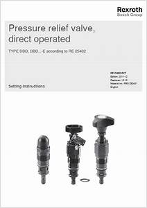 Bosch Rexroth Direct Operated Pressure Relief Valves
