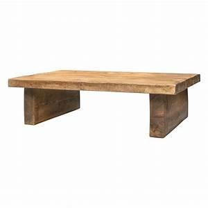 coffee table low 2 inch top 2 leg funky chunky furniture With low solid wood coffee table